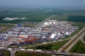 Aerial view of the Iowa 80 Truckstop - the size of a small town
