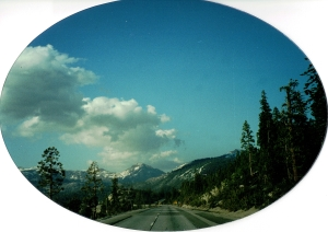 Crossing Donner Pass on Interstate 80