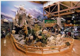 A lot of taxidermy going on inside the Cabela's store in Sidney, Nebraska